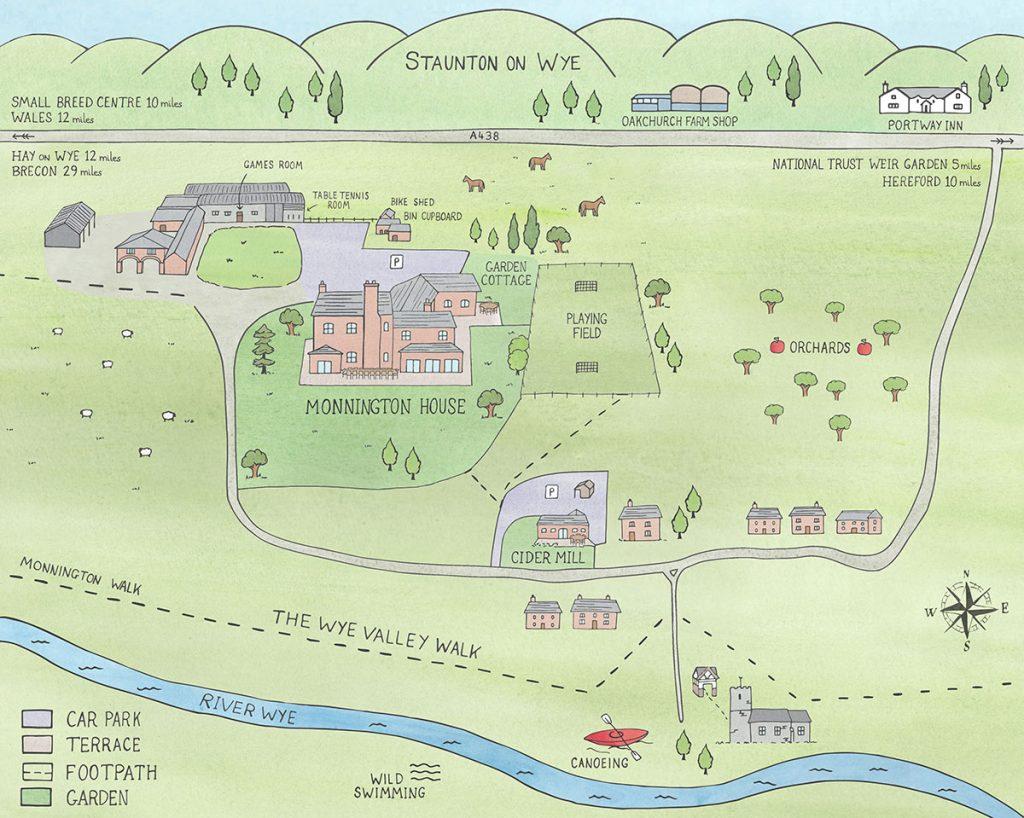 Monnington Cider Mill map